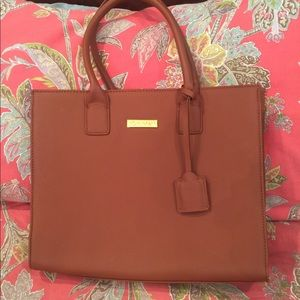 NWOT super multi pocket tote with extras!